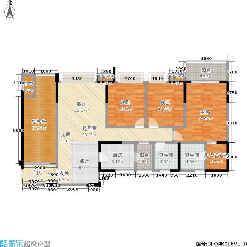 香山半岛140.05㎡一期5号楼标准层A1户型