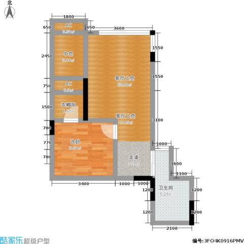 兰花丽景二期 兰花丽景添丁1室0厅1卫0厨62.00㎡户型图