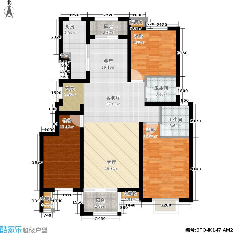 中国铁建北京山语城138.00㎡D1户型3室2厅