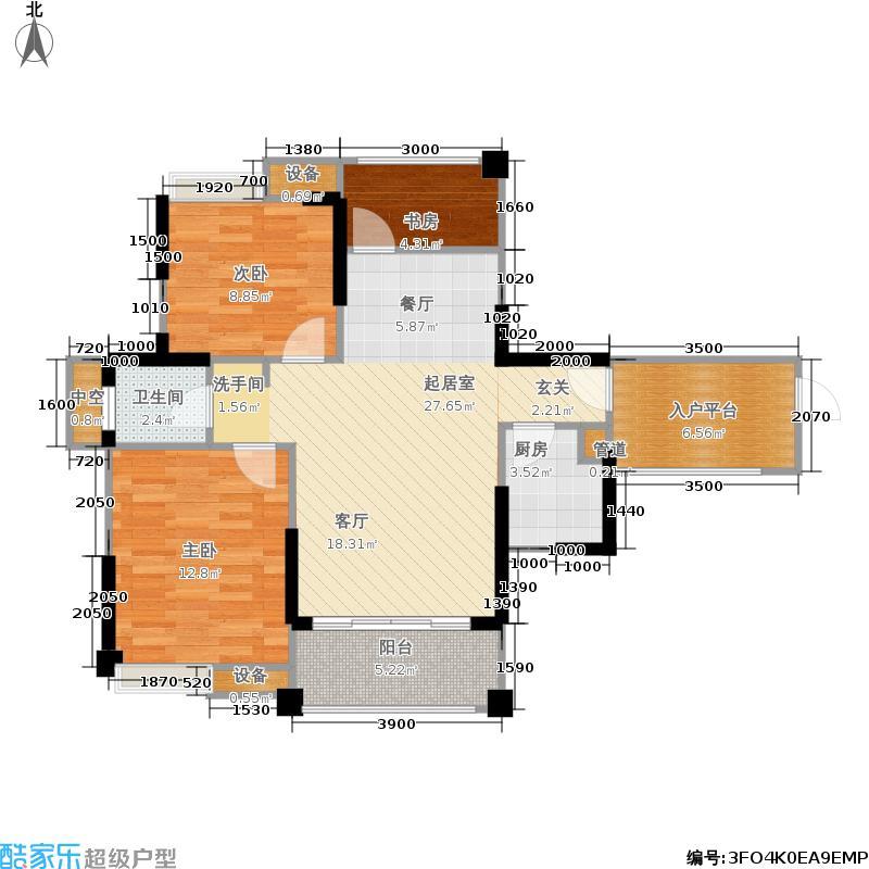 瑞升橡树林华府84.00㎡6号楼标准层B1户型