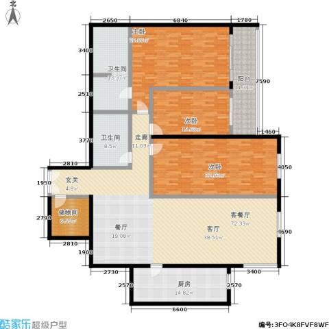 锦绣园3室1厅2卫1厨227.00㎡户型图