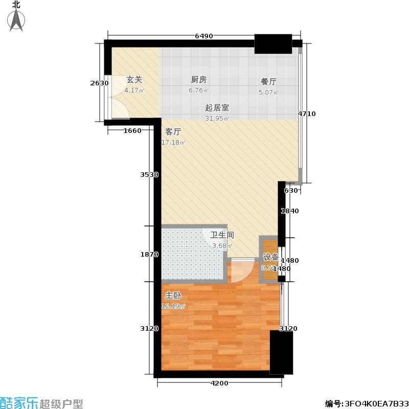 阳光新业中心68.00㎡2栋标准层D3户型