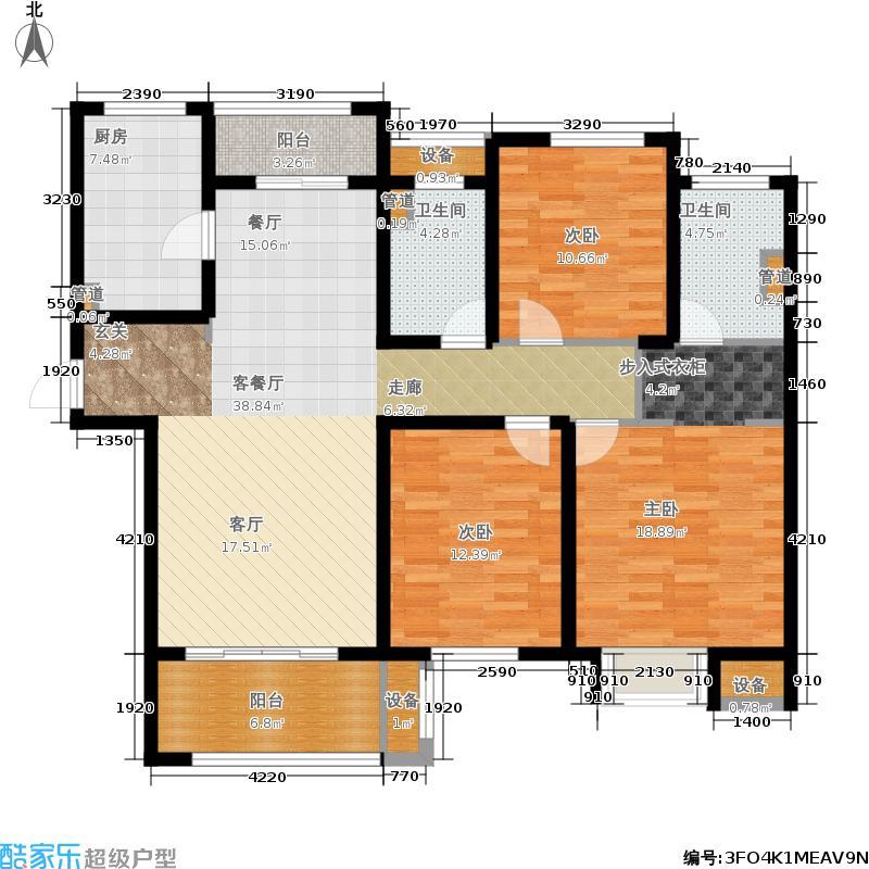 华润国际社区128.00㎡三期G户型3室2厅