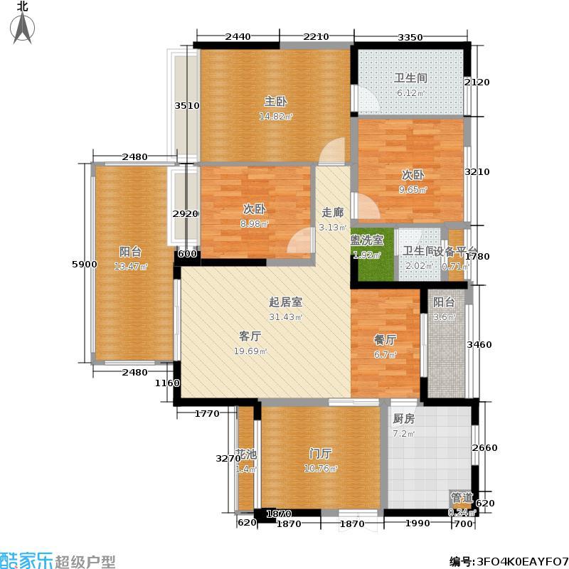 光明城市121.43㎡二期4号楼B1(售罄)户型