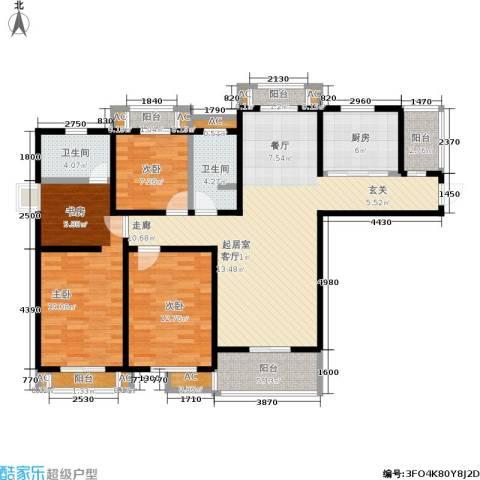 银河湾3室0厅2卫1厨120.00㎡户型图
