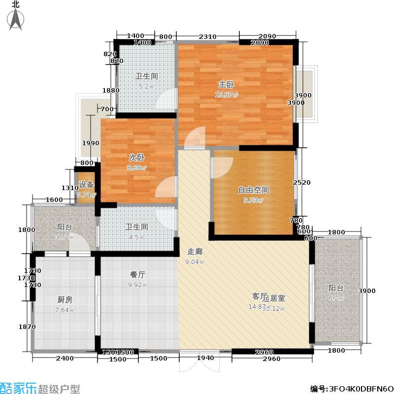 海骏达蜀都1号105.61㎡二期3-5号楼C-04奇数层户型