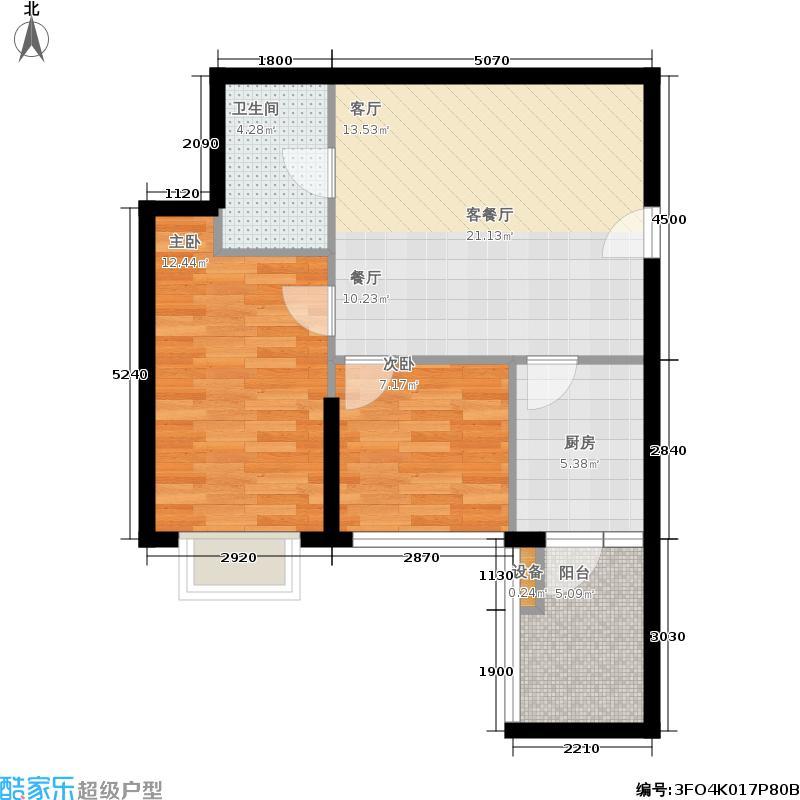 21世纪国际公寓63.80㎡2期56幢标面积6380m户型