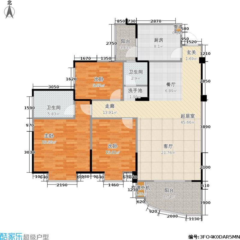 和贵久居福129.00㎡和贵・久居福一二三期13号楼标准层13-4户型