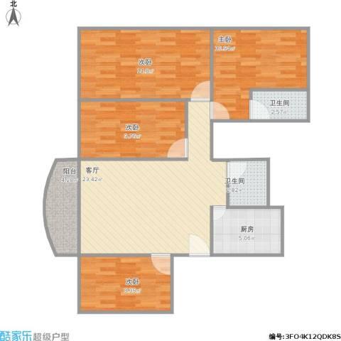麒麟花园4室1厅2卫1厨111.00㎡户型图