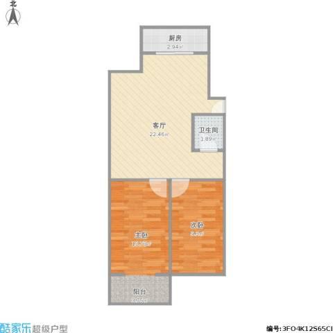夫子庙2室1厅1卫1厨68.00㎡户型图