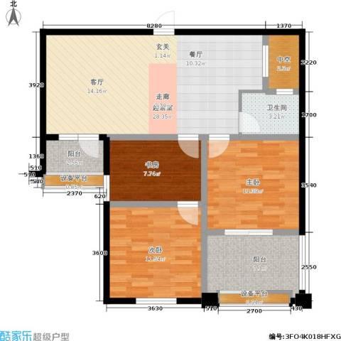 盈嘉香榴湾3室0厅1卫0厨87.00㎡户型图