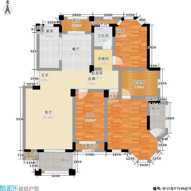 水岸新都花苑131.70㎡一期15、19幢1-5层G1户型