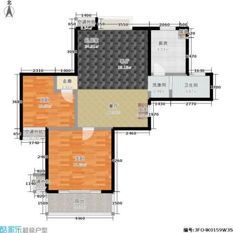 文鼎雅苑2室0厅1卫1厨88.00㎡户型图