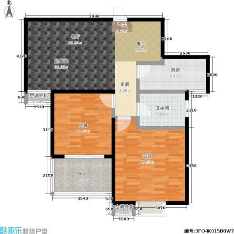 文鼎雅苑2室0厅1卫1厨87.00㎡户型图