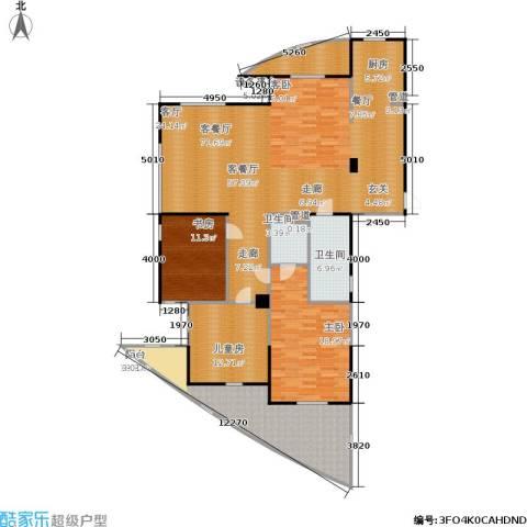 良渚花苑新村3室1厅2卫0厨160.00㎡户型图