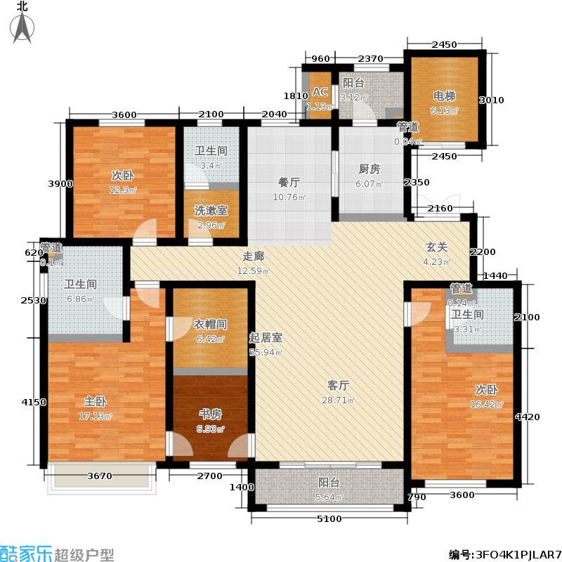北京城建胜茂广场213.00㎡2-A户型4室2厅