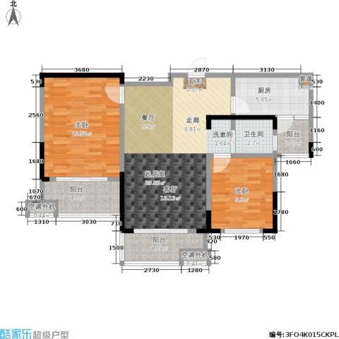 文鼎雅苑2室0厅1卫1厨84.00㎡户型图