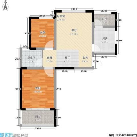 盈嘉香榴湾2室0厅1卫1厨70.00㎡户型图