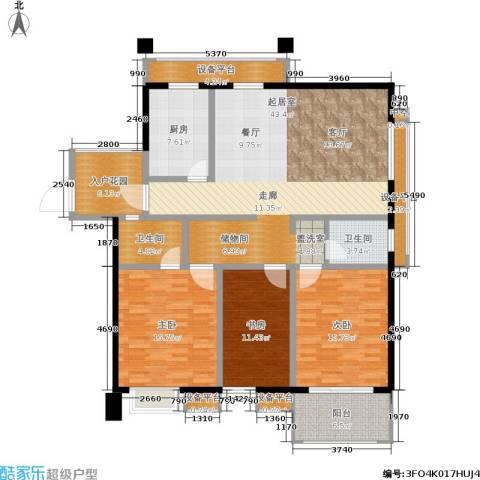凤凰和美3室0厅2卫1厨141.00㎡户型图