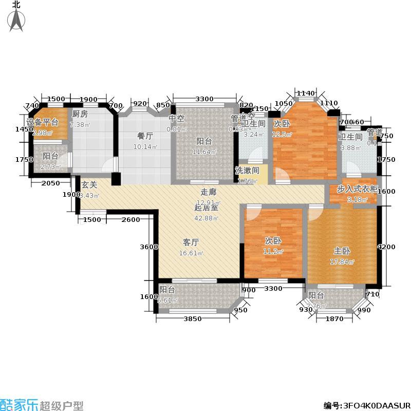 丽都花园丽府155.00㎡二期10号楼标准层C户型