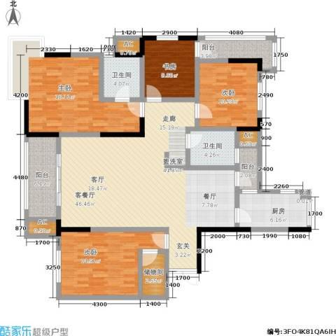 万科西街庭院4室1厅2卫1厨170.00㎡户型图