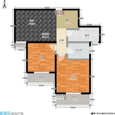 文鼎雅苑2室0厅1卫1厨86.00㎡户型图