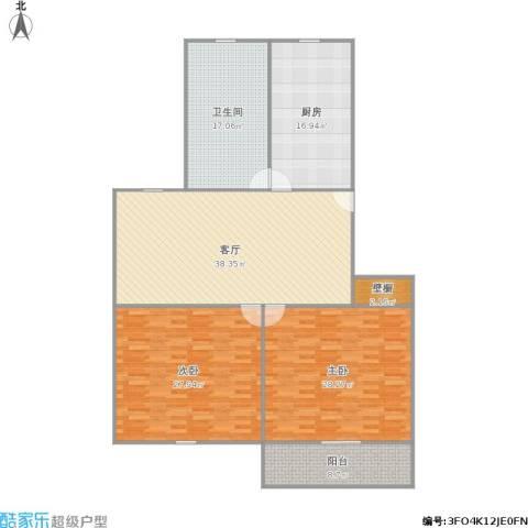 祁连四村2室1厅1卫1厨184.00㎡户型图