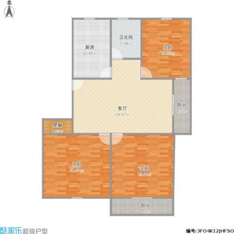 祁连四村3室1厅1卫1厨150.00㎡户型图