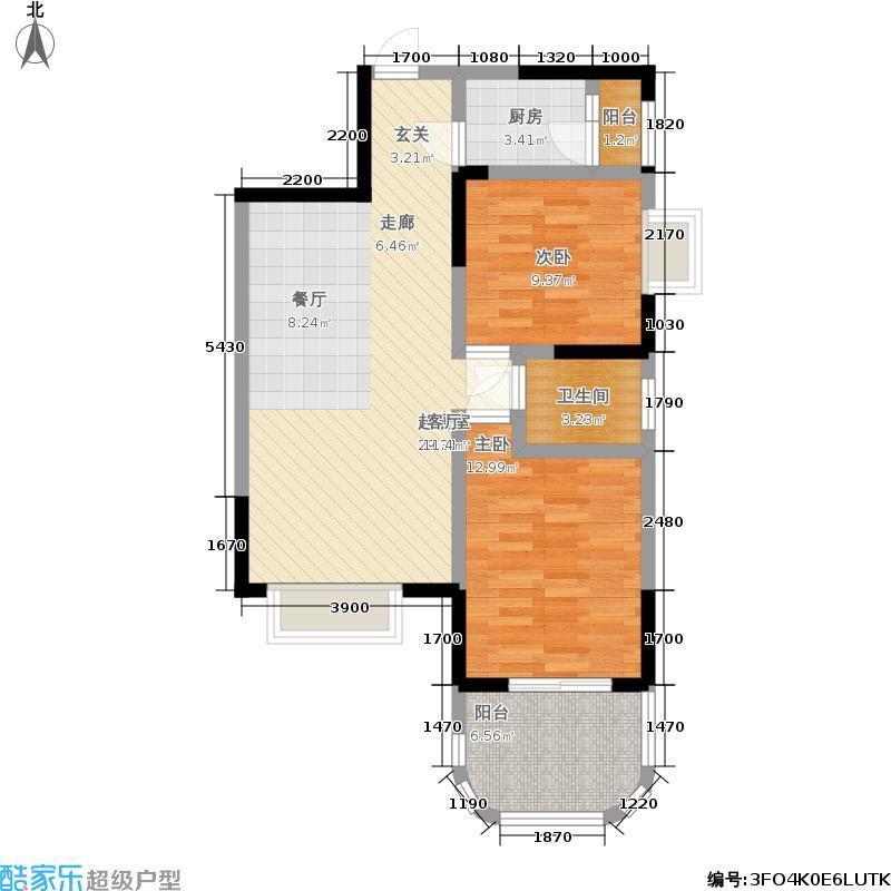 元益花园84.97㎡5号楼2单元E22室户型