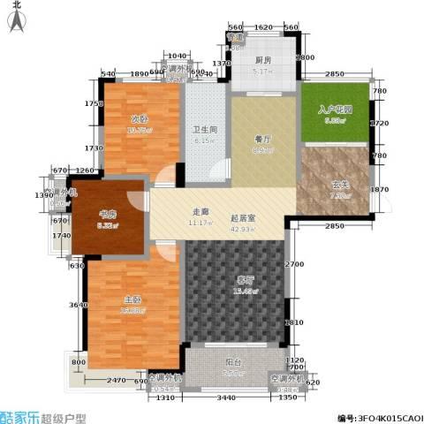 文鼎雅苑3室0厅1卫1厨114.00㎡户型图