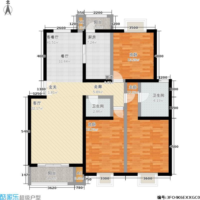 望都新地137.20㎡望都新地户型图三期D2三室二厅二卫(5/11张)户型10室
