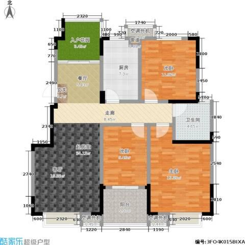 文鼎雅苑3室0厅1卫1厨107.00㎡户型图