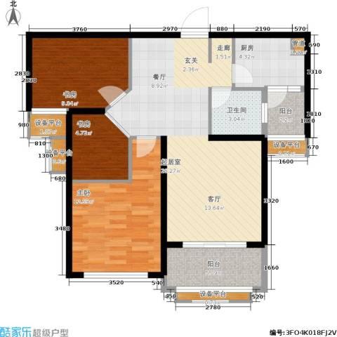 盈嘉香榴湾3室0厅1卫1厨82.00㎡户型图