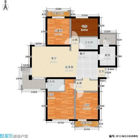 盈嘉香榴湾4室0厅2卫1厨127.00㎡户型图