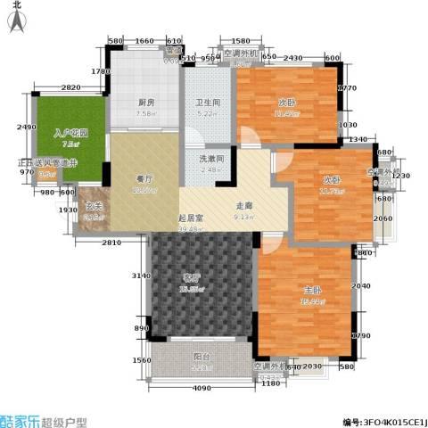 文鼎雅苑3室0厅1卫1厨117.00㎡户型图