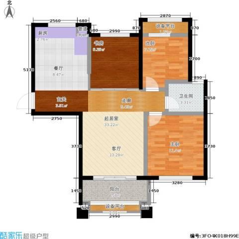 盈嘉香榴湾3室0厅1卫0厨82.00㎡户型图