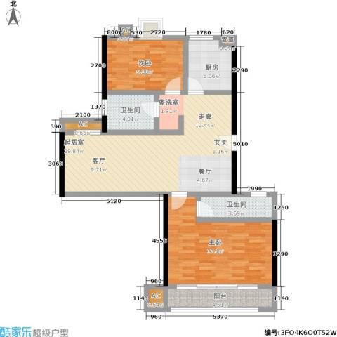 爱达花园紫藤园2室0厅2卫1厨89.00㎡户型图