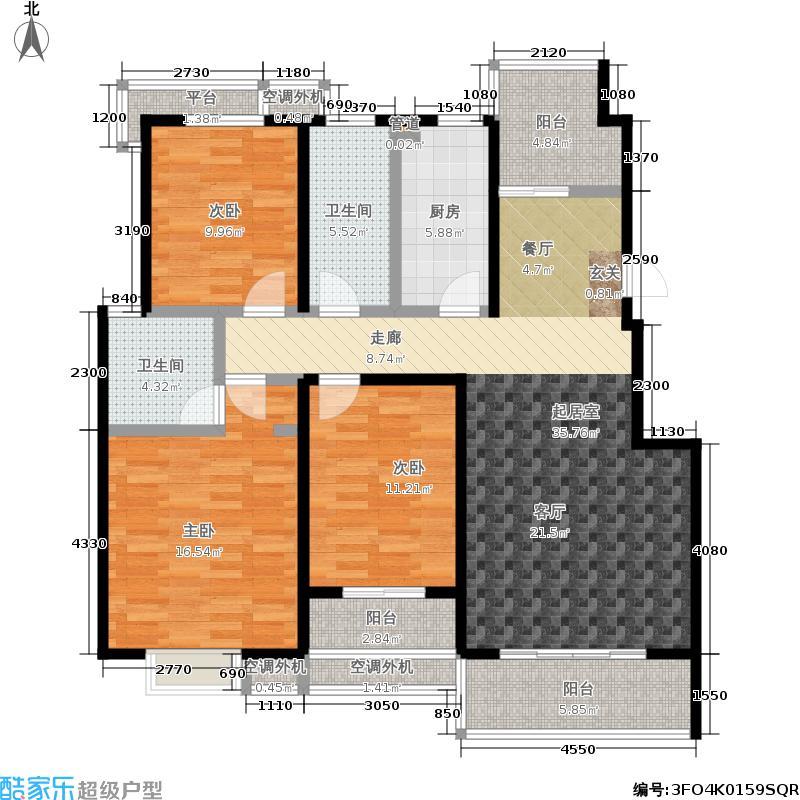 文鼎雅苑117.00㎡5号楼标准层C0户面积11700m户型