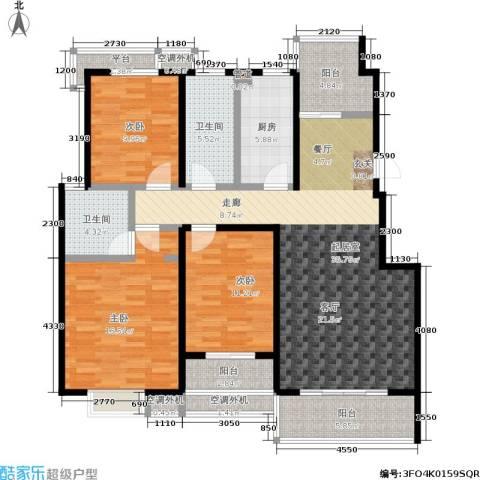 文鼎雅苑3室0厅2卫1厨117.00㎡户型图