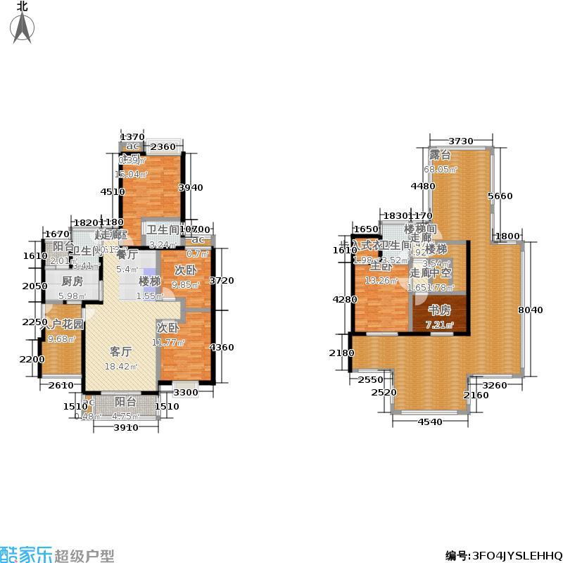 雷士澜山郡168.74㎡雷士・澜山郡一期10-18号楼6层A户型