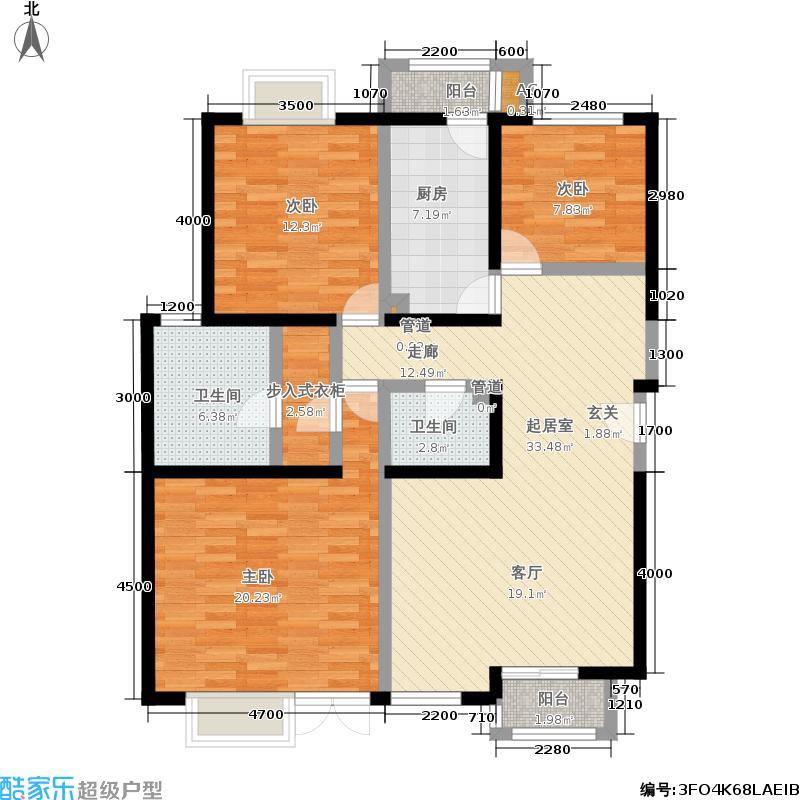 望都新地125.20㎡望都新地户型图二期D3三室二厅二卫(9/11张)户型10室