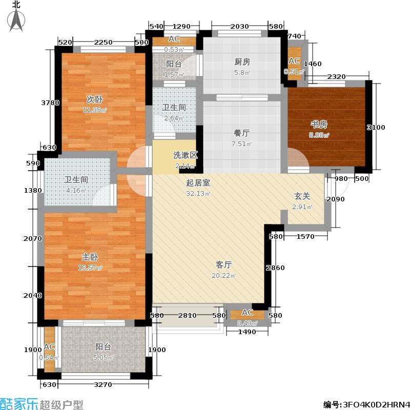 置信国色天乡鹭湖宫5号社区115.00㎡一期1-4号楼标准层G户型