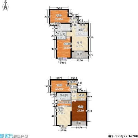 金城丽景2室0厅2卫1厨172.00㎡户型图