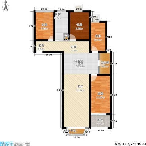 金城丽景4室0厅1卫1厨108.00㎡户型图