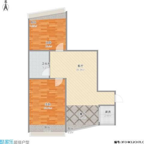 嘉汇大厦2室1厅1卫1厨93.00㎡户型图