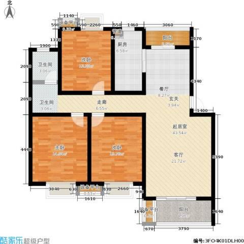 幸福美地3室0厅1卫1厨150.00㎡户型图