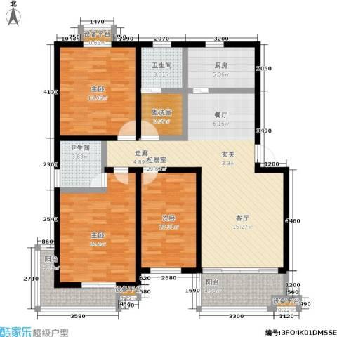 幸福美地3室0厅2卫1厨111.00㎡户型图