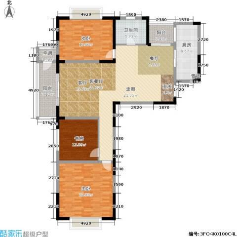 金王府3室1厅1卫1厨145.00㎡户型图