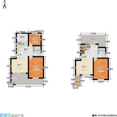 幸福美地3室0厅2卫1厨139.00㎡户型图