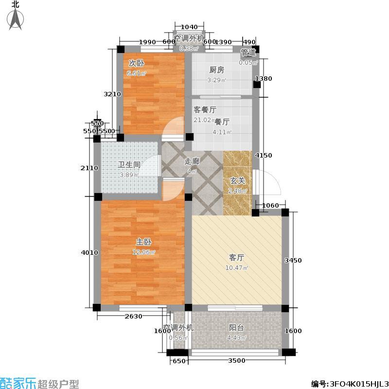 兰亭雅苑83.00㎡三期13号楼2-6层面积8300m户型